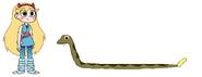 Star meets Western Diamondback Rattlesnake