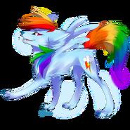 Wolf Rainbow Dash by Affanita