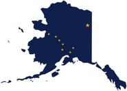 Alaska Flag Map
