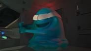 B.O.B. blindfolded