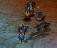 Conker's Bad Fur Day conker and the cavermans