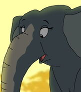 Grandma Elephant in The Wildlife Land
