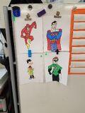 Drawings of the DC superheroes