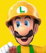 Luigi in Super Mario Maker 2