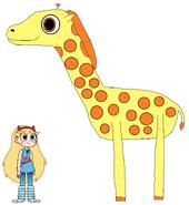 Star meets South African Giraffe