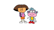 Dora and Boots in My Style