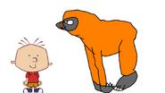Stanley Griff Meets Bornean Orangutan