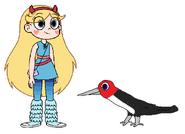 Star meets Red-Headed Woodpecker