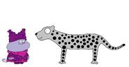 Chowder meets Snow Leopard