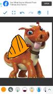 Norville as Dimetrodon