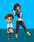 Tim Templeton and GoGo Tomago (Tim's Old Sister)