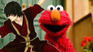 Elmo with his ally Zuko