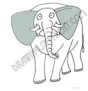 Sad elephant grande