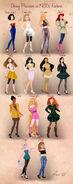 Disney Princesses 1980s Fashion