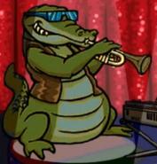 Hugo lek och lar 2 den magiska resan alligator musician
