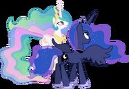Princess celestia and princess luna conversing 2 by 90sigma d5v3rr9-pre