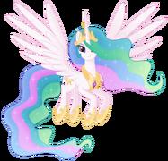 Princess celestia flying by negatif22 de2frfe-pre