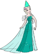 Elsa with a party hat