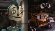 Rodney Copperbottom and WALL-E