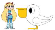 Star meets Australian Pelican