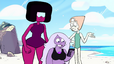 The Crystal Gems in the summer