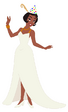 Tiana with a party hat