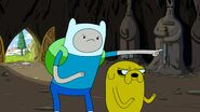 Finn pointing his finger at ghost