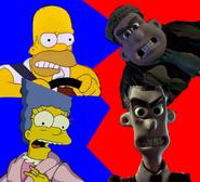Homer Simpson and Marge Simpson vs Mr. Tweedy and Mrs. Tweedy