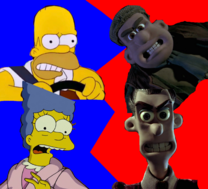 Homer Simpson and Marge Simpson vs Mr. Tweedy and Mrs. Tweedy