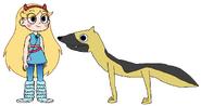 Star meets German Shepherd