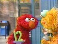Elmo gets angry at Zoe because of Rocco