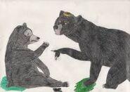 Merida and Elanore as American black bears