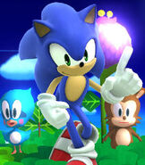 Sonic in Super Smash Bros. for Wii-U and 3DS