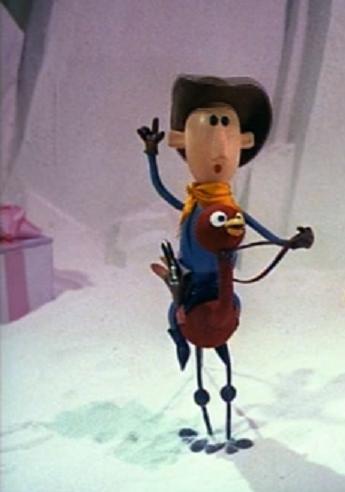 Cowboy Who Rides An Ostrich