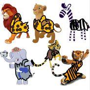 GLA Jungle Animal Characters