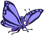 Sarah Spacebot butterfly form abugslife in thespacebotsadventuresseries