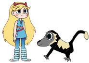 Star meets Colobus Monkey