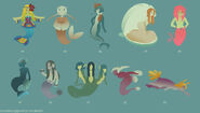 Mermaid Concepts 5 by DoodleBuggy