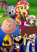 (Family) Meta Knight, Sunset Shimmer, Leaf, Lynn Loud, Charlie Brown and Carlitos Casagrande
