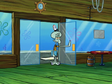 Oh, Spongebob. I got a present for you. As he enters the Krusty Krab