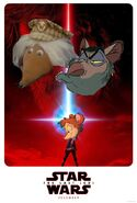 Star Wars Episode 8 The Last Jedi (Disney and Sega Style) Poster