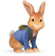 Peter rabbit about to run