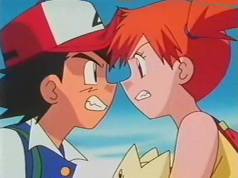 Ash and Misty Fight