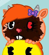 Emojie has an awful look!