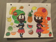 Looney tunes beautiful hula dancing martians by samanthabaez21 dcynnua-fullview