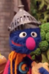 Super Grover eating toast
