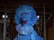 A blue Big Bird sings I'm So Blue