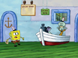 Spongebob with note