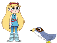 Star meets Peregrine Falcon