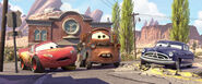 Doc Hudson sentences Lightning McQueen to community service